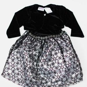 Blueberi Boulevard Dresses - Blueberi Toddler Girl Dress & Shrug Set 2T